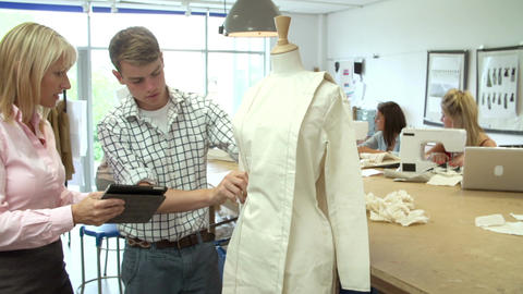 College Students Studying Fashion And Design Live Action