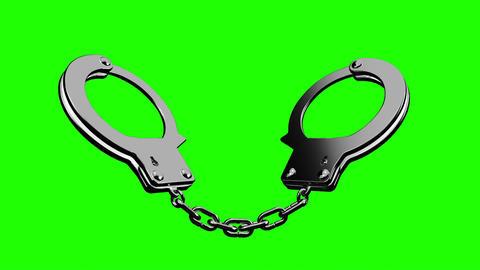 Handcuffs On Green Chroma Key Animation