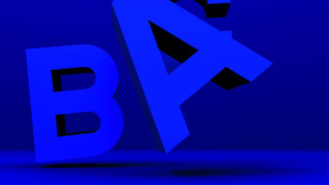 Blue Alphabet On Blue Background CG動画素材