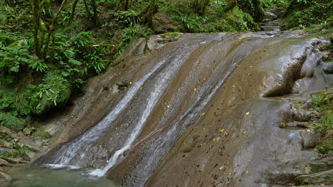 Waterfall in summer forest on Caucasus Mountains Footage