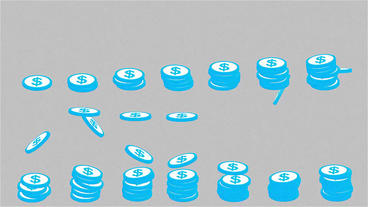 Falling Coins Pack After Effects Templates