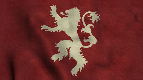 House Lannister Flag Waving Animation