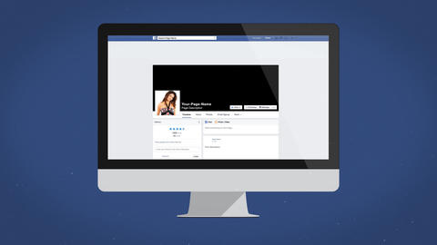 Facebook Desktop Intro - After Effects Template After Effects Template