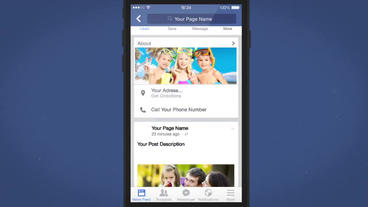 Facebook Mobile Intro - After Effects Template stock footage