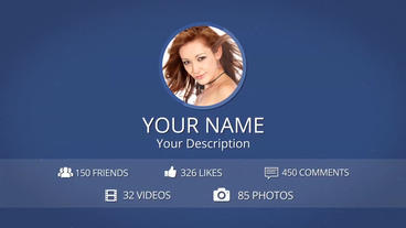 Facebook Profile Intro - After Effects Template After Effectsテンプレート