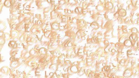 Animated beige words Love abstract background Animation
