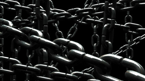Old Chains Abstract On Black Background CG動画