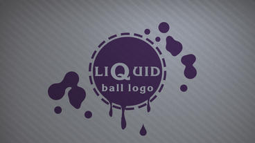 Liquid ball logo Apple Motionテンプレート