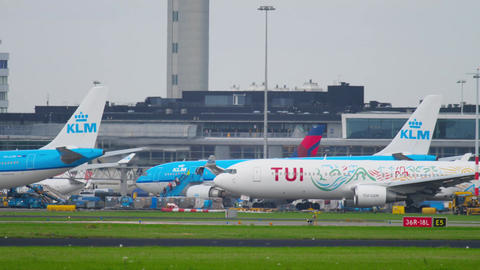 TUI Fly Boeing 767 taxiing after landing Image