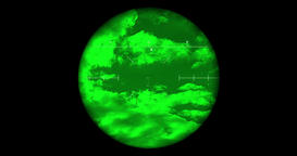 Searching the sky with single night vision scope includes complex reticle versio Image
