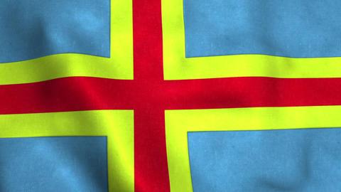 Aland islands Flag in FullHD Animation