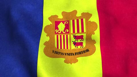 Andorra Flag in FullHD Animation