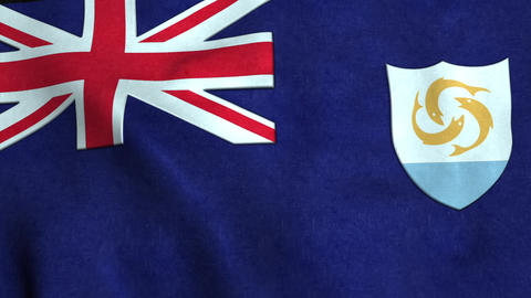 Anguilla Flag in FullHD Animation