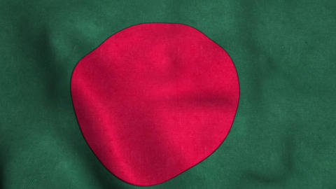 Bangladesh Flag in FullHD Animation