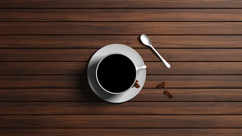 A cup of coffee, an alpha channel transition, PNG codec Animation
