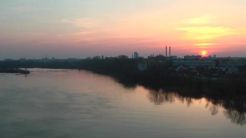 Timelapse City Morning Sunrise ビデオ