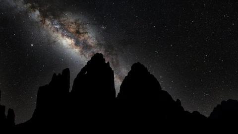 Milky Way Galaxy 3 Cime di Lavaredo Live Action