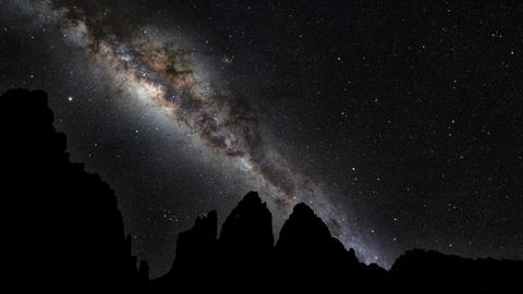 Milky Way Galaxy 3 Cime di Lavaredo Footage