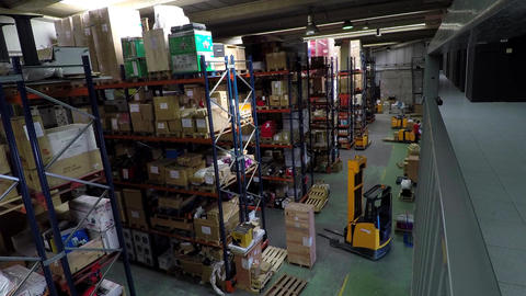 Inside A Warehouse Stock Video Footage