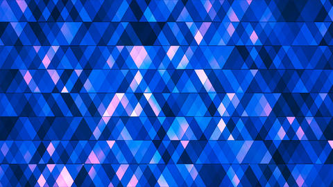 Broadcast Twinkling Hi-Tech Diamonds, Blue, Abstract, Loopable, 4K Animation