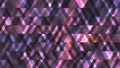 Broadcast Twinkling Hi-Tech Diamonds, Purple, Abstract, Loopable, 4K Animación