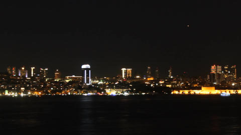 View of Istanbul at night ビデオ
