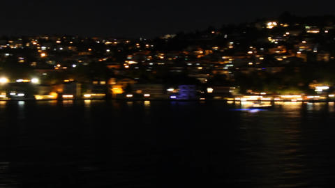 Hills in Istanbul at night Live Action