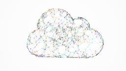 cloud computing, huge connections between points Animation