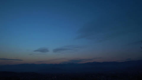 At dawn, Nagano-City, JAPAN, time-lapse Live Action
