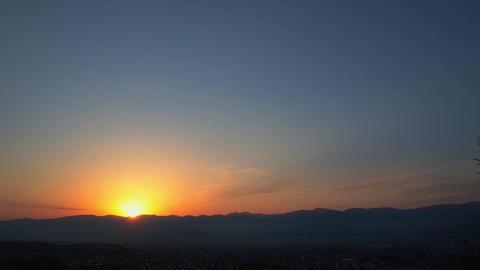 Sunrise, Nagano-City, JAPAN, time-lapse Live Action