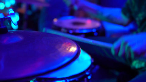 Drummer Play the drum in slow motion Footage