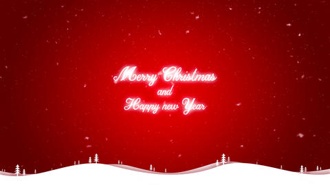Merry Christmas and happy new year background red CG動画素材