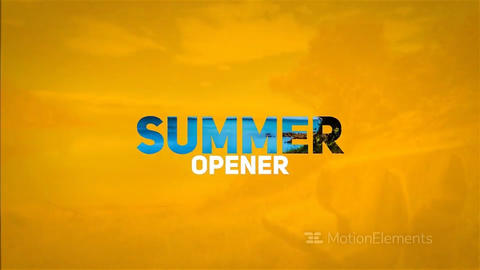 SUMMER OPENER After Effects Template