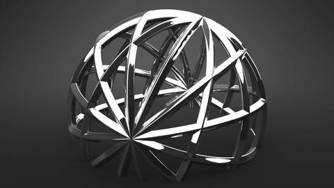 Silver Circle Abstract On Black Background Animation