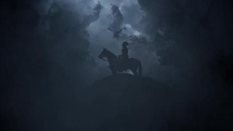 Napoleon on a Hill on a Stormy Day Image