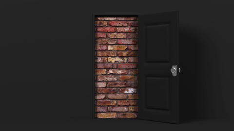 Black Door And Wall Animation