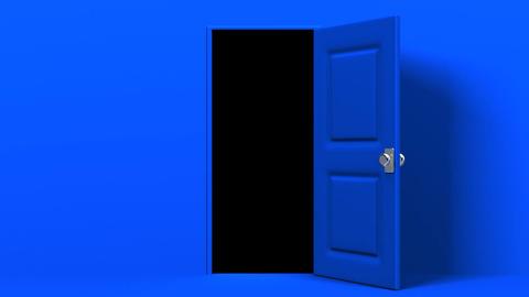 Blue Door And Dark Room Animation