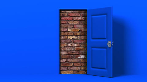 Blue Door And Wall Animation