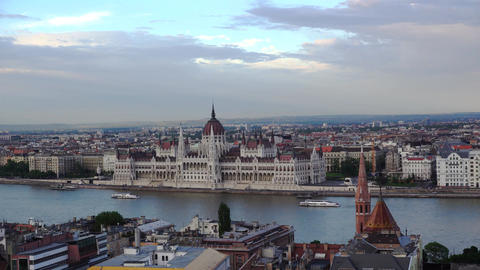 Budapest parlament Footage
