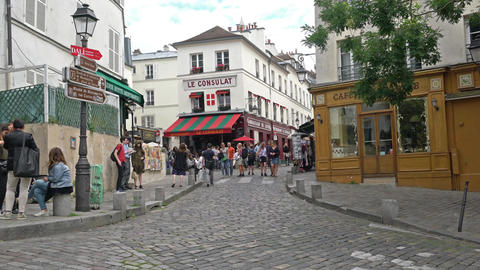 Montmartre in Paris Footage
