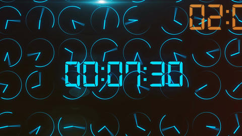 Futuristic time concept with electronic dial digit Stock Video Footage