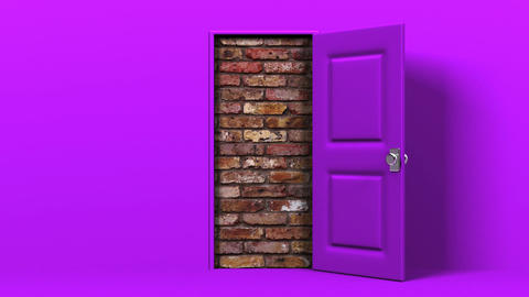 Purple Door And Wall Animation