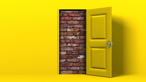Yellow Door And Wall Animation