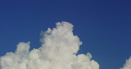 White Clouds In Sky In Time Lapse stock footage