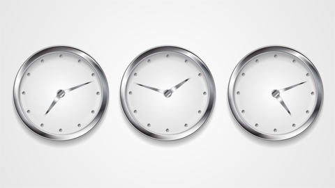 Mad wall clocks concept video animation Animation