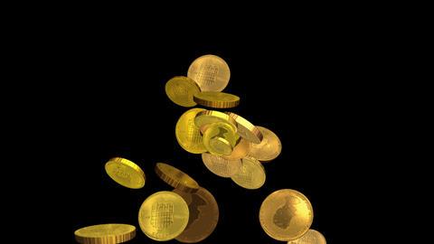 4k Golden coin background,economic gold money currency finance rich wealth cash Footage