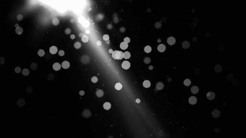 Abstract Particle Background Animation - Loop Black and White Animation