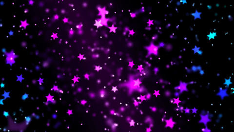 Abstract Star Particle Background - Loop Purple Animation