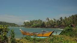Beautiful tropical island on the ocean . Sri Lanka Footage