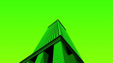 SHA 3d Building Green Animation